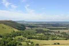 Южная сельская местность спусков около Брайтона, Англии стоковые фотографии rf