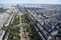 Южная сторона Парижа от башни Стоковая Фотография