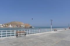 Южная часть взгляда курорта Cerro Azul от пристани Стоковое фото RF