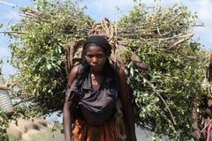 Южная Эфиопия, 19 12 2009 - Женщина племени Conso стоковая фотография rf