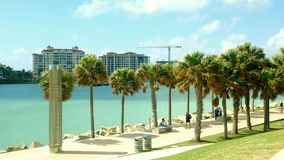 Южное видео пляжа парка Pointe сток-видео