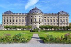 Южное крыло резиденции Wurzburg, Германия Стоковые Фото