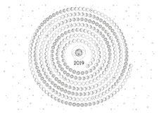 Южное полушарие календаря 2019 луны стоковое изображение