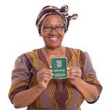 Южно-африканская старшая женщина стоковое фото rf