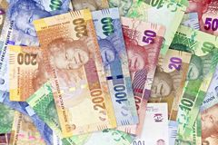 Южно-африканские, новые бумажные деньги Стоковое Изображение