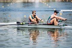 Южно-африканские спортсмены на rowing конкуренции чашки мира гребя Стоковые Изображения