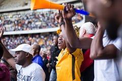 Южно-африканские футбольные болельщики стоковые фото
