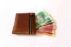 Южно-африканский ранд в бумажнике Стоковые Фотографии RF