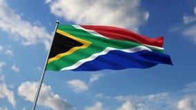 Южно-африканский флаг иллюстрация вектора