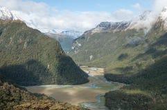 Южные Альпы, Новая Зеландия Стоковая Фотография RF