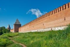 Южные башни стены 3 Смоленска Кремля Стоковые Изображения RF