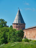 Южные башни стены 3 Смоленска Кремля Стоковое Фото