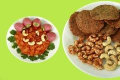 Южные индийские закуски и помадки Стоковое Фото