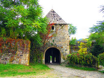 Южные стробы крепости Kastel которая направлена к реке Vrbas Стоковое Изображение