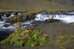 Южный ландшафт Исландии с ледниковым рекой Стоковое Изображение