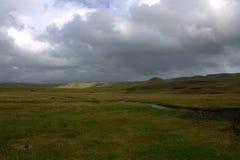 Южный ландшафт Исландии Стоковая Фотография