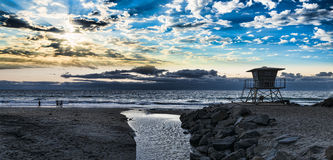 Южный берег океана пляжа Стоковая Фотография