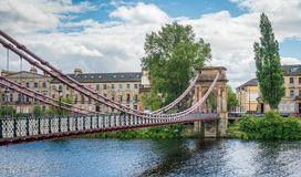 Южный висячий мост улицы Портленда в Глазго, Шотландии Стоковая Фотография