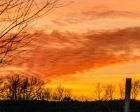 Южный заход солнца Стоковое фото RF