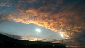 Южный заход солнца! Стоковые Фото