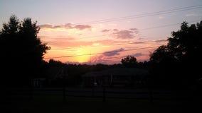 южный заход солнца Стоковая Фотография RF