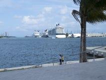 Южный залив Biscayne, Майами Флорида Стоковое фото RF