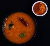 Южный индийский суп Стоковая Фотография