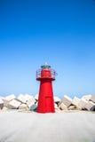 Южный маяк причала: Ortona, Абруццо, Италия Стоковое фото RF