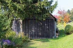 южный немецкий сад коттеджа Стоковая Фотография