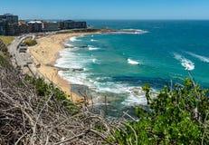 Южный пляж Ньюкасл - Ньюкасл - Австралия стоковые изображения