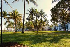 Южный пляж в Майами, Флориде Стоковые Фото
