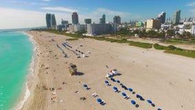 Южный пляж, Miami Beach Флорида сток-видео