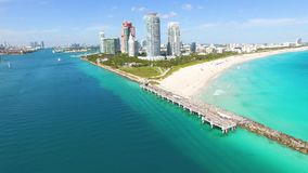 Южный пляж, Miami Beach Флорида акции видеоматериалы