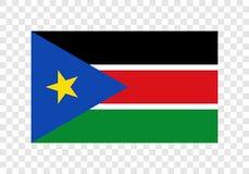 Южный Судан - национальный флаг бесплатная иллюстрация