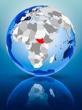 Южный Судан на глобусе бесплатная иллюстрация