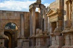 Южный театр, Jerash Стоковая Фотография RF