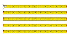 дюймы ленты измерения Стоковые Фотографии RF