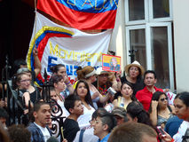 Юлианские протестующие Assange стоковое изображение rf