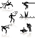 юмористика 3 игр олимпийская Стоковая Фотография RF