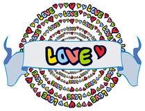Юмористическая эмблема с словом & x22; love& x22; стоковые фото