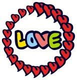 Юмористическая эмблема с словом & x22; love& x22; стоковое фото rf