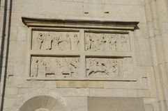 ЮНЕСКО Моденаа барельеф Стоковые Фото