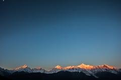 Юньнань, Шангри-Ла, гора снега Meili, паломничество Стоковая Фотография