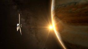 Юпитер и спутниковое juno стоковое изображение rf
