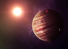 Юпитер снял от космоса показывая всем их Стоковое фото RF
