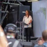 Юрист Джина Davis на анти--Brexit демонстрации стоковые фото