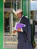 Юрист идет в Суд короны Chelmsford после советовать с его клиентами на Augu стоковые фото