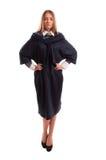 Юрист Styligh нося платье сини военно-морского флота Стоковые Фотографии RF