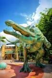 Юрская тема парка в студиях Universal Сингапуре Стоковое Изображение