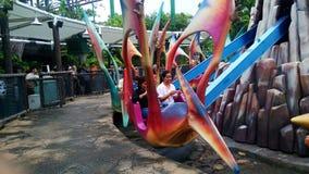 Юрская тема парка в студиях Universal Сингапуре Стоковые Изображения RF